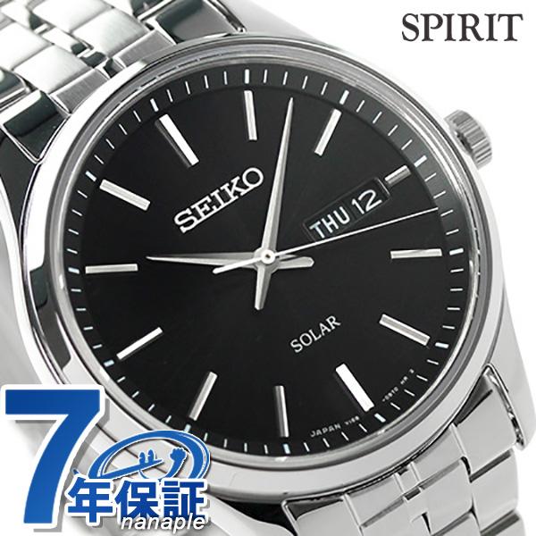 セイコー スピリット ソーラー メンズ SBPX069 SEIKO SPIRIT 腕時計 ブラック 時計【あす楽対応】