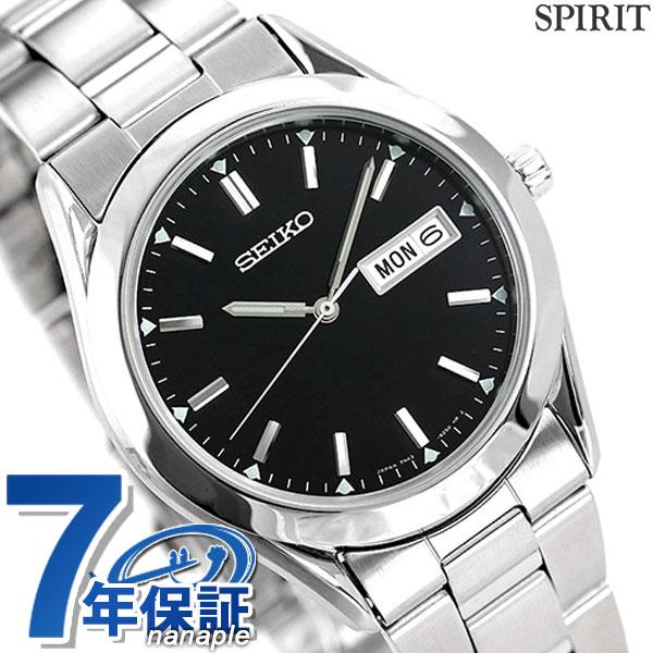 店内ポイント最大43倍!16日1時59分まで! セイコー スピリット メンズ 腕時計 SCDC085 SEIKO SPIRIT ブラック 時計