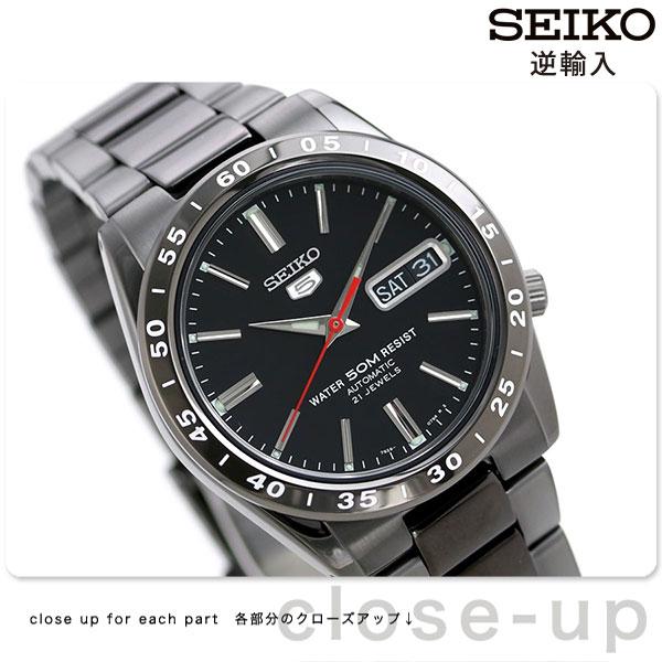 セイコー 5 逆輸入 海外モデル 自動巻き SNKE03K1(SNKE03KC) SEIKO メンズ 腕時計 オールブラック 時計【あす楽対応】