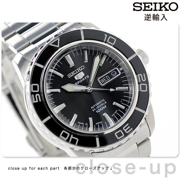 セイコー 逆輸入 海外モデル 5 スポーツ 日本製 SNZH55J1(SNZH55JC) SEIKO 自動巻き メンズ 腕時計 ブラック 時計【あす楽対応】