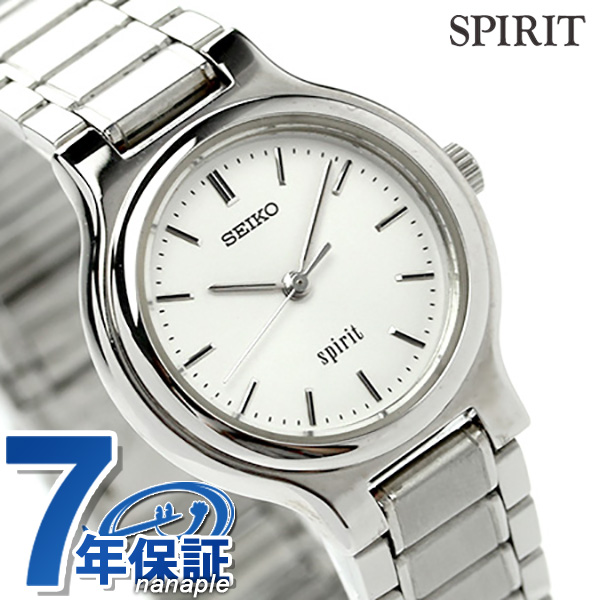 店内ポイント最大43倍!16日1時59分まで! セイコー スピリット レディース 腕時計 SSDN003 SEIKO SPIRIT クオーツ ホワイト 時計