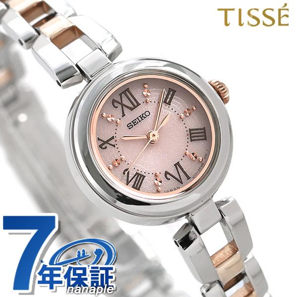 セイコー ティセ ソーラー レディース 腕時計 SWFA153 SEIKO TISSE ピンク×ピンクゴールド 時計