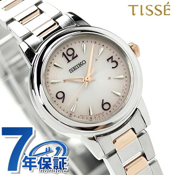 セイコー ティセ 電波ソーラー レディース 腕時計 SWFH019 SEIKO TISSE ピンクゴールド 時計