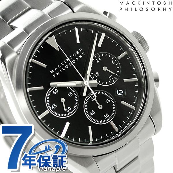 マッキントッシュ フィロソフィー クロノグラフ 腕時計 FBZV982 MACKINTOSH PHILOSOPHY ブラック 時計