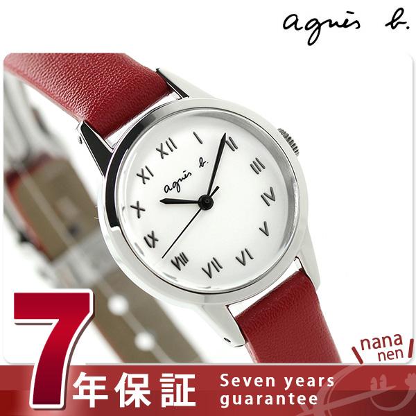 アニエスベー 時計 マルチェロ スタンダードモデル FCSK952 agnes b. ホワイト×レッド アニエス・ベー 腕時計