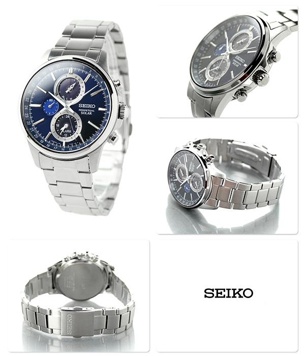 SEIKO spirit smart solar chronograph SBPJ003 SEIKO watch navy