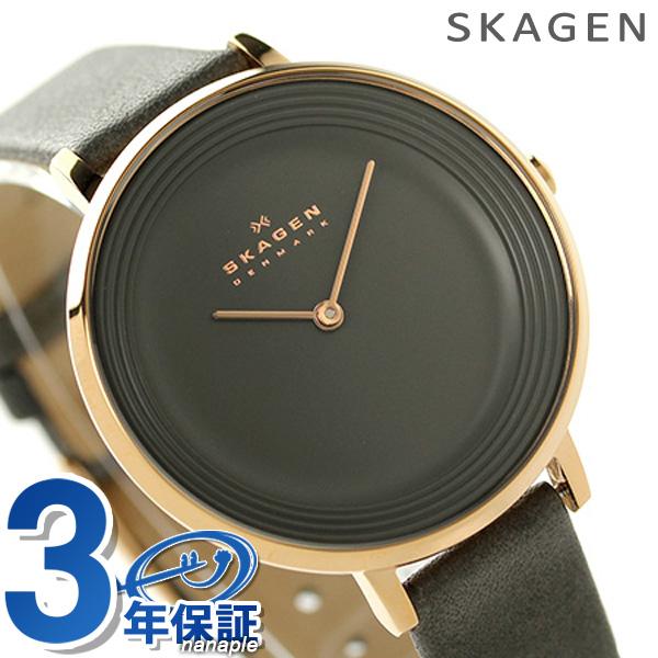スカーゲン レディース ディッテ クオーツ 腕時計 SKW2216 SKAGEN グレー 時計【あす楽対応】