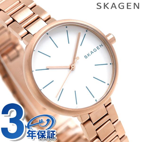 スカーゲン 時計 レディース シグネチャー 30mm クオーツ SKW2619 ローズゴールド SKAGEN 腕時計【あす楽対応】