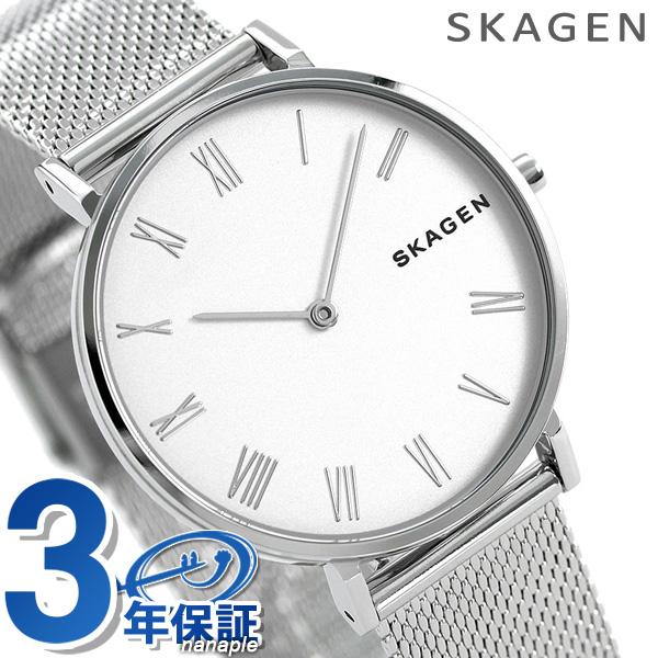 スカーゲン 時計 レディース ハルド 34mm クオーツ SKW2712 シルバー SKAGEN 腕時計【あす楽対応】