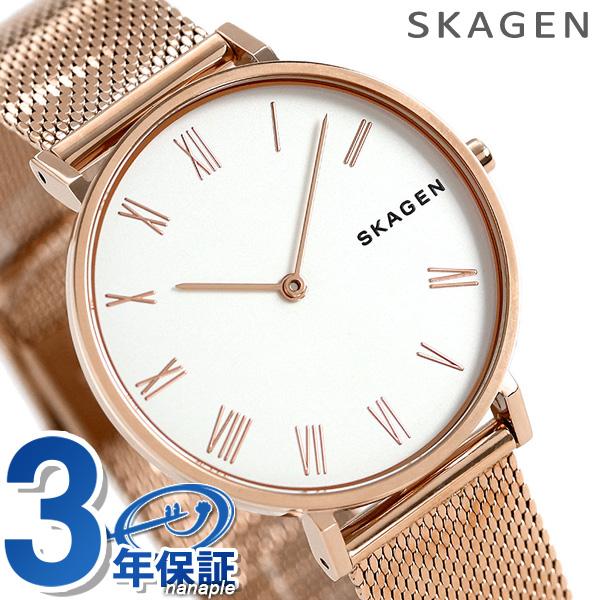 スカーゲン 時計 レディース ハルド 34mm クオーツ SKW2714 シルバー×ピンクゴールド SKAGEN 腕時計【あす楽対応】