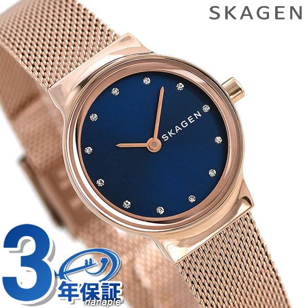 スカーゲン 時計 レディース 腕時計 SKW2740 SKAGEN フレヤ ネイビー×ローズゴールド【あす楽対応】