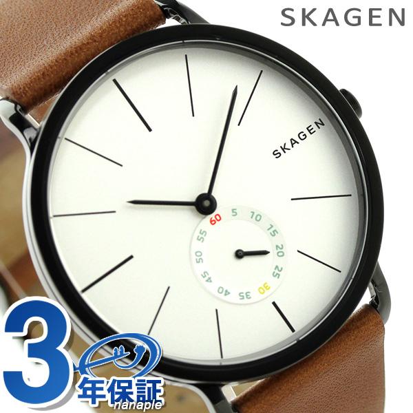 スカーゲン メンズ ハーゲン クオーツ 腕時計 SKW6216 SKAGEN シルバー×ブラウン 時計【あす楽対応】