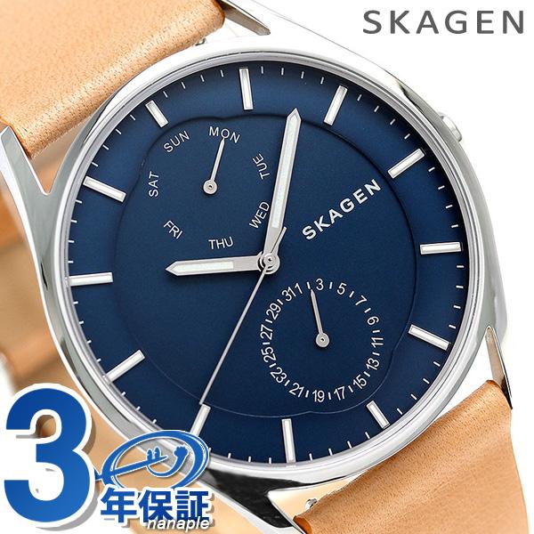 スカーゲン 時計 メンズ ホルスト 40mm マルチファンクション SKW6369 ネイビー SKAGEN 腕時計【あす楽対応】
