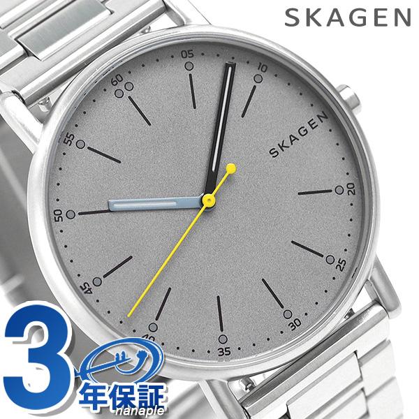 スカーゲン 時計 メンズ シグネチャー 40mm クオーツ SKW6375 グレー SKAGEN 腕時計【あす楽対応】