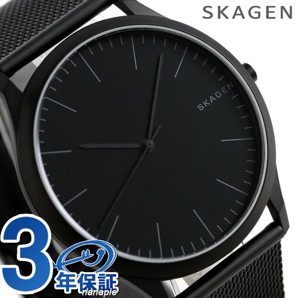 スカーゲン 時計 メンズ ヨーン 41mm クオーツ SKW6422 オールブラック SKAGEN 腕時計【あす楽対応】
