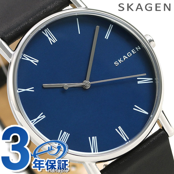 スカーゲン シグネチャー 40mm メンズ SKW6434 ブルー×ブラック SKAGEN 腕時計 時計