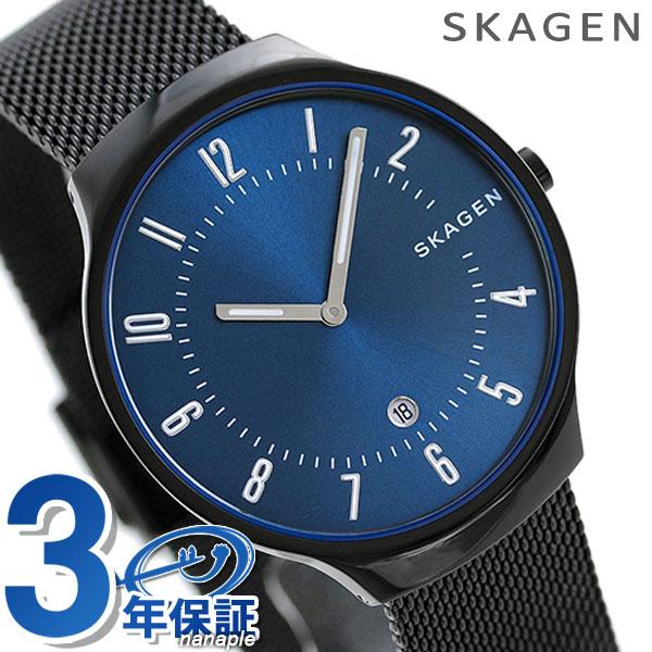スカーゲン 時計 グレーネン メンズ SKW6461 ネイビー×ブラックSKAGEN 腕時計【あす楽対応】