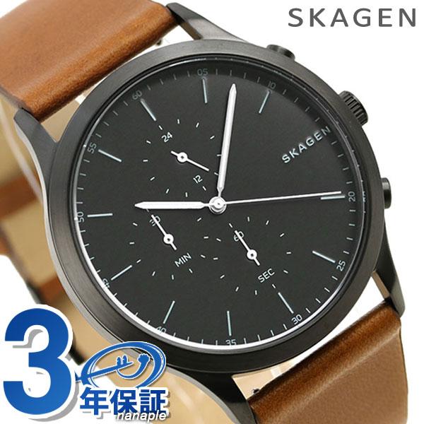 スカーゲン 時計 ヨーン クロノグラフ メンズ SKW6477 ブラック×ブラウンSKAGEN 腕時計【あす楽対応】