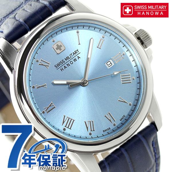 スイスミリタリー ローマン メンズ 腕時計 ML-409 SWISS MILITARY ブルー×ネイビー 時計