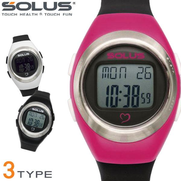 919e44b54c 全6色 ウォーキング 01-300 心拍数測定 時計 Team Sports300 健康 消費カロリー ソーラス 腕時計 スポーツ SOLUS