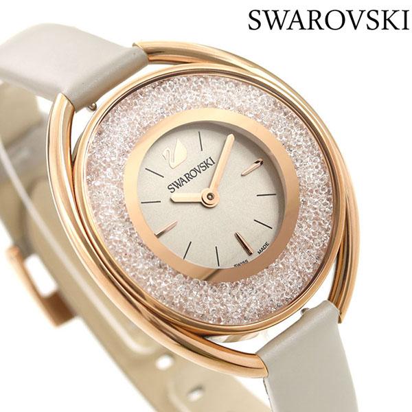 スワロフスキー レディース 腕時計 スイス製 ジュエリー アクセサリー 5158544 SWAROVSKI クリスタルラインオーバル 時計【あす楽対応】