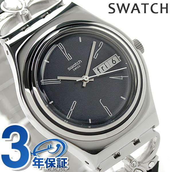スウォッチ SWATCH 腕時計 スイス製 アイロニー ミディアム レディース YLS710G クオーツ ネイビー×ブラック 時計【あす楽対応】