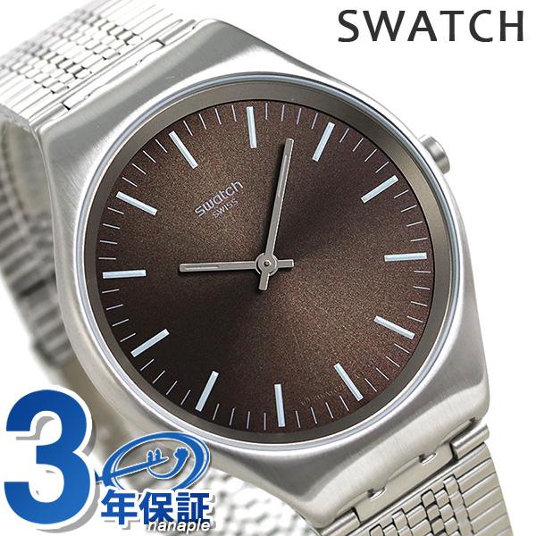 スウォッチ SWATCH 腕時計 メンズ レディース ブラウン SYXS112GG スキン アイロニー スキンブート 時計【あす楽対応】