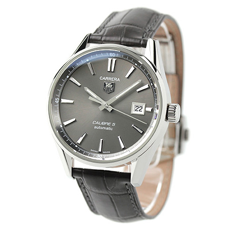 タグホイヤーカレラキャリバー 5 self-winding watch WAR211C.FC6336 TAG Heuer men watch anthrasite