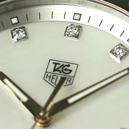 タグホイヤーリンクダイヤモンドメンズ watch WJF1153.BB0579 TAG Heuer white shell X gold new article