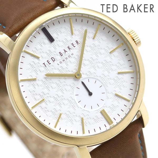 テッドベーカー メンズ 腕時計 スモールセコンド 革ベルト TE15193006 TED BAKER トレント 43mm 時計【あす楽対応】