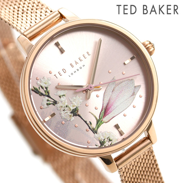 a01beee6d Ted Baker Lady s watch floral design pink gold TE50070005 TED BAKER Kate  32mm clock