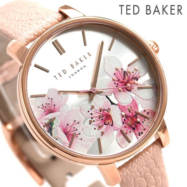 3b4dcdb28 Ted Baker Lady's watch floral design leather belt TE50272004 TED BAKER Kate  38mm clock ...
