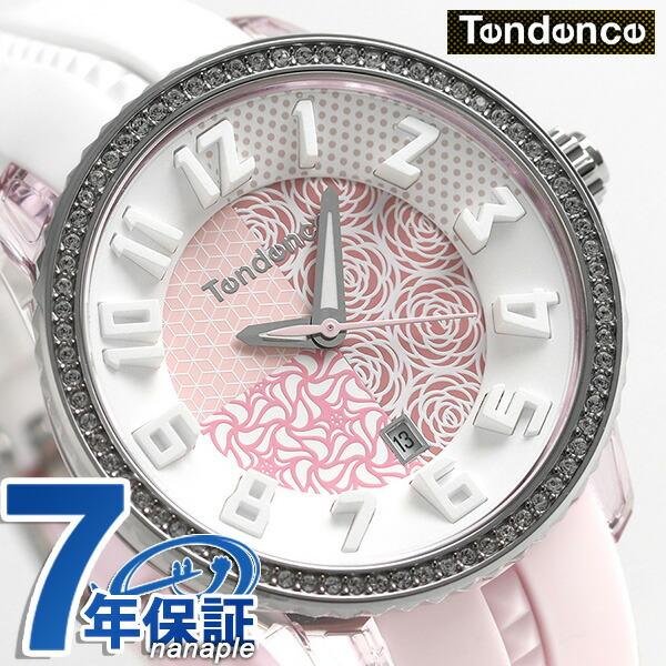 テンデンス クレイジー ミディアム 42mm レディース 腕時計 TY930065 TENDENCE ホワイト×ピンク 時計【あす楽対応】