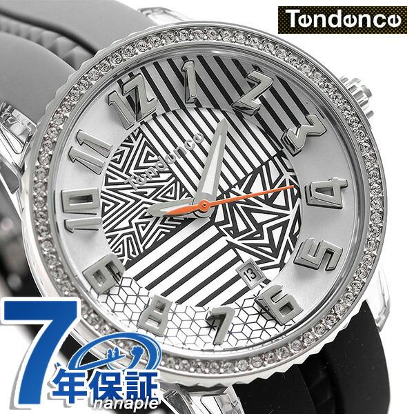 テンデンス クレイジー ミディアム 42mm 腕時計 TY930066 TENDENCE ブラック×グレー 時計