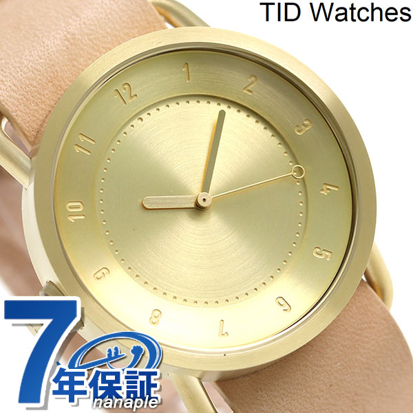 TID watches 時計 No.1 レザーベルト 40mm TID01-GD/N ティッド ウォッチズ 腕時計