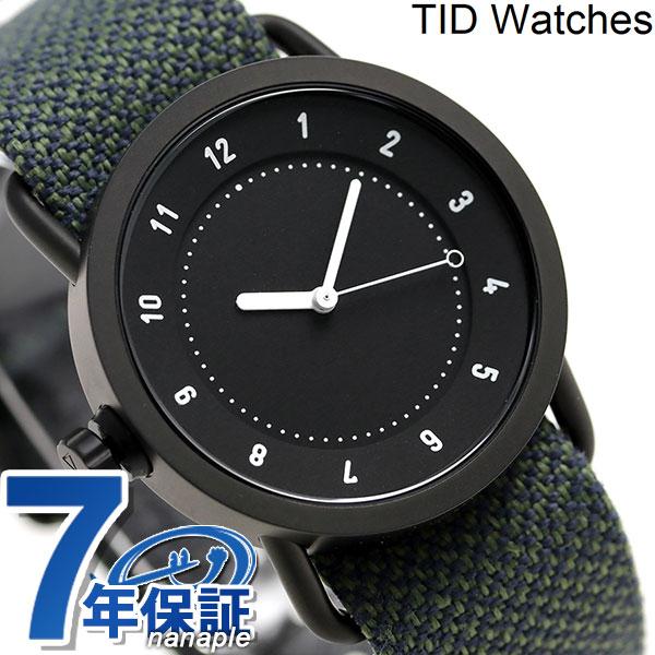 店内ポイント最大43倍!16日1時59分まで! TID watches 時計 No.1 トウェインベルト 36mm TID01-36TW BLACK/PINE ティッド ウォッチズ 腕時計