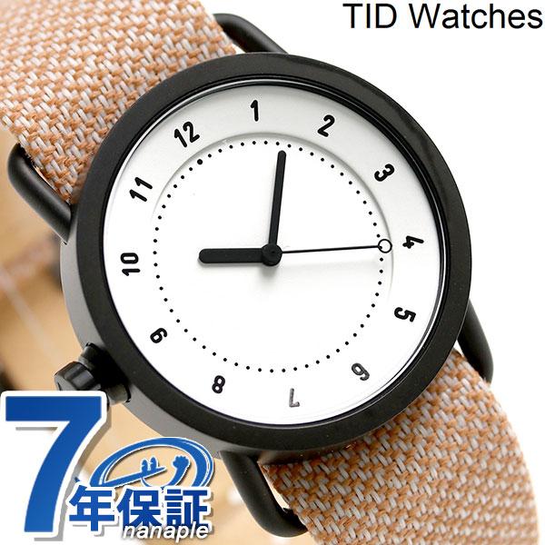 TID watches 時計 No.1 トウェインベルト 36mm TID01-36TW WH/SALMON ティッド ウォッチズ 腕時計