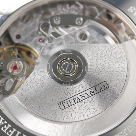 tifaniatorasujientokuronogurafu 42mm自动卷人手表Z1000.82.12A21A71A TIFFANY&Co. 银子×黑色短吻鳄皮革新货
