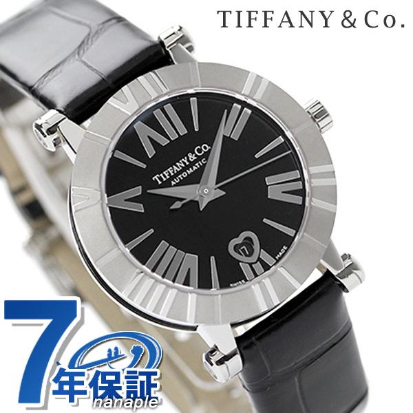 ティファニー アトラス 30mm 自動巻き レディース 腕時計 Z1300.68.11A10A71A TIFFANY&Co. ブラック アリゲーターレザー 新品【あす楽対応】