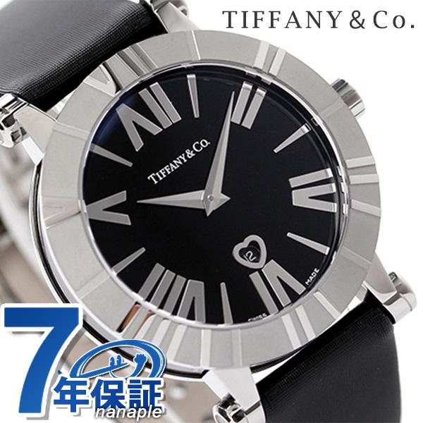 ティファニー アトラス 36mm レディース 腕時計 Z1301.11.11A10A41A TIFFANY&Co. クオーツ ブラック サテンレザー 新品