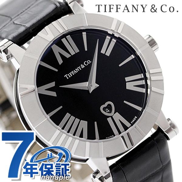 ティファニー アトラス 36mm レディース 腕時計 Z1301.11.11A10A71A TIFFANY&Co. クオーツ ブラック アリゲーターレザー 新品