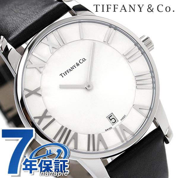 ティファニー アトラス ドーム メンズ 腕時計 Z1800.11.10A21A52A TIFFANY&Co. クオーツ シルバー×ブラック カーフレザー 新品