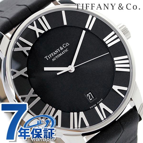 ティファニー アトラス ドーム XL 自動巻き メンズ 腕時計 Z1810.68.10A10A50A TIFFANY&Co. ブラック カーフレザー 新品