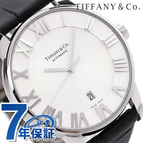 ティファニー アトラス ドーム XL 自動巻き メンズ 腕時計 Z1810.68.10A21A50A TIFFANY&Co. シルバー×ブラック カーフレザー 新品