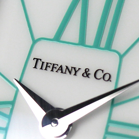 Tiffany GEMA large 22 mm ladies watch Z6401.10.10A29A48A TIFFANY & co. Quartz White southern leather new