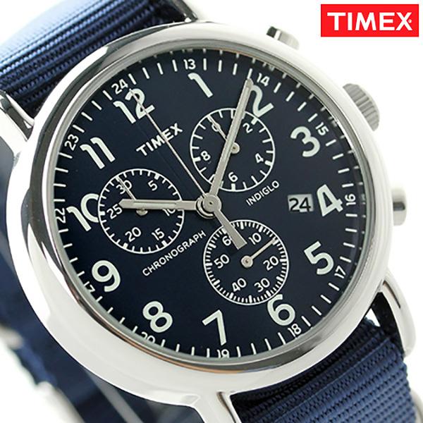 タイメックス ウィークエンダー 40mm クロノグラフ TW2P71300 TIMEX 腕時計 ブルー 時計