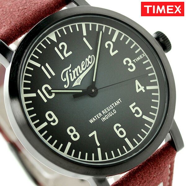 タイメックス オリジナルス ユニバーシティ クオーツ TW2P83200 TIMEX 腕時計 ブラック×ワインレッド 時計【あす楽対応】
