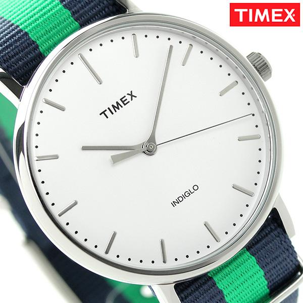 タイメックス ウィークエンダー フェアフィールド 41mm TW2P90800 TIMEX 腕時計 ホワイト×ネイビー 時計