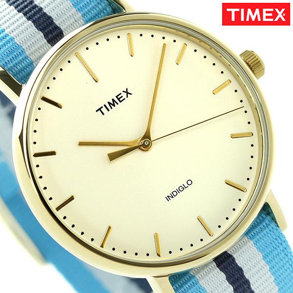 タイメックス ウィークエンダー フェアフィールド 41mm TW2P91000 TIMEX 腕時計 ナチュラル×ブルー 時計