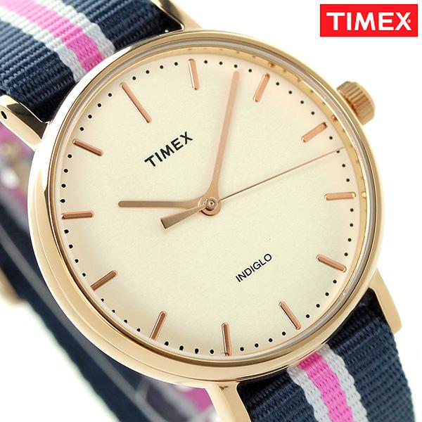 タイメックス ウィークエンダー フェアフィールド 37mm TW2P91500 TIMEX 腕時計 ナチュラル×ネイビー 時計